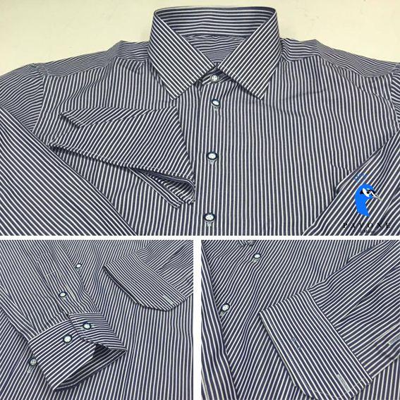 ρικολίνα Αυστρίας (βαμβάκι) Γιακάς Ημι-Rex,Μανσέτα κοφτή Κουμπί τριχρωμία (λευκό,μπλέ,μαύρο) Μονόγραμμα με λατινικούς χαρακτήρες στην μανσέτα,Pochette στο χρώμα το πουκαμίσου για συνδυασμό με σακάκι.