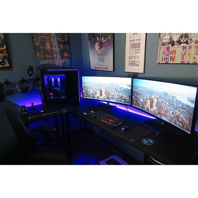 692 Best Gamer S Corner Images On Pinterest Desk Setup