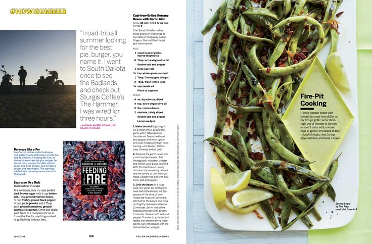 White serving board from Tina Frey Designs featured in Food & Wine Magazine - June 2015 - Photo credit: Con Poulos