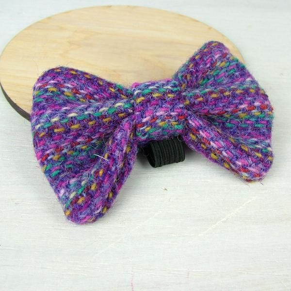 Harris Tweed Bow Tie Rainbow Purple Harris Tweed Tweed Harris Tweed Fabric