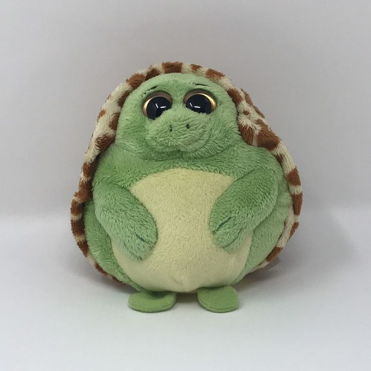 "Ty Beanie Ballz Plush Green Brown Zoom the Turtle Stuffed Animal Toy 2011 5"" #Ty"