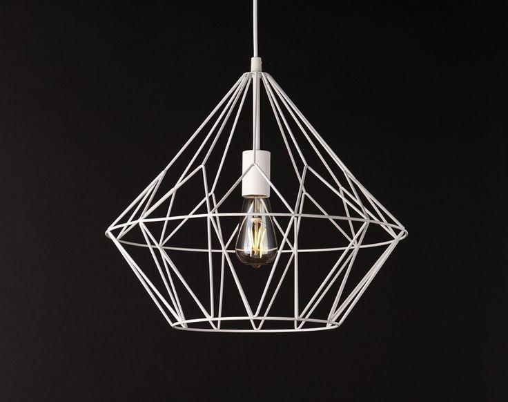 Lampa BELL II lampa wisząca duża BIAŁA MAXlight lampy - oświetlenie domu