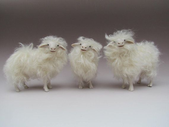 Italian Sarda Sheep Figures in Porcelain and by Colinscreatures