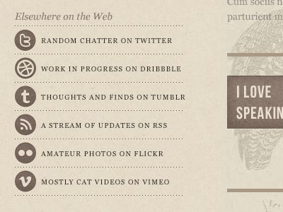 great footer, way of using social media icons