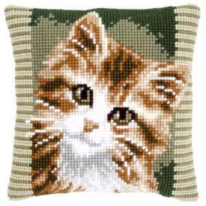 Набор для вышивки подушки Vervaco Вервако Котенок   PN-0149856