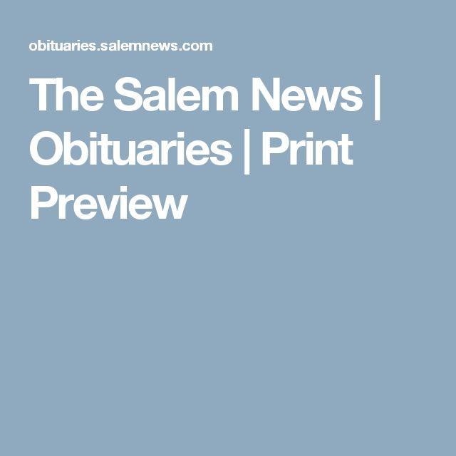 The Salem News | Obituaries | Print Preview