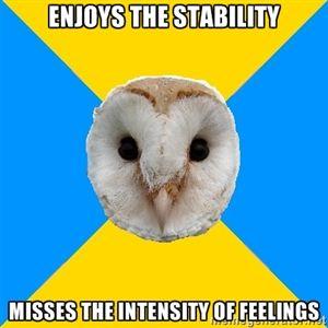 Bipolar Owl on intense feelings vs. stability
