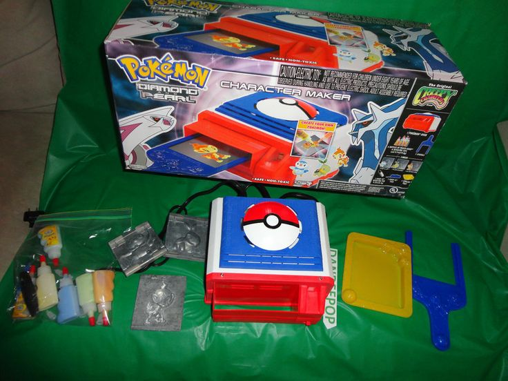 Nintendo Cartoon Network Pokemon Diamond and Pearl Character Maker oven Set 2007 find me at www.dandeepop.com