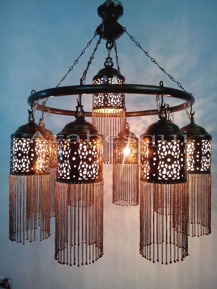 40 best lamp arabian islamic moroccan lightings images on br372 antique style handmade brass ring 9 down light large moroccan chandelier aloadofball Choice Image