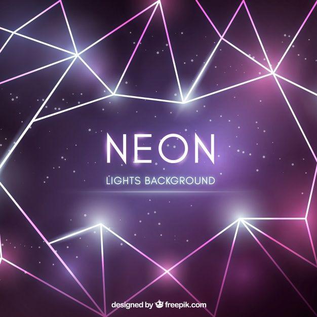 Baixe Fundo Abstrato Com Luzes De Neon Geometricas Gratuitamente