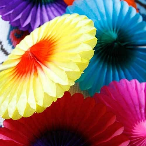 Paper Tissue Fan Christmas Decorations By Pearl And Earl: Best 25+ Rainbow Fan Ideas On Pinterest