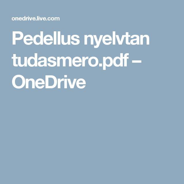 Pedellus nyelvtan tudasmero.pdf – OneDrive