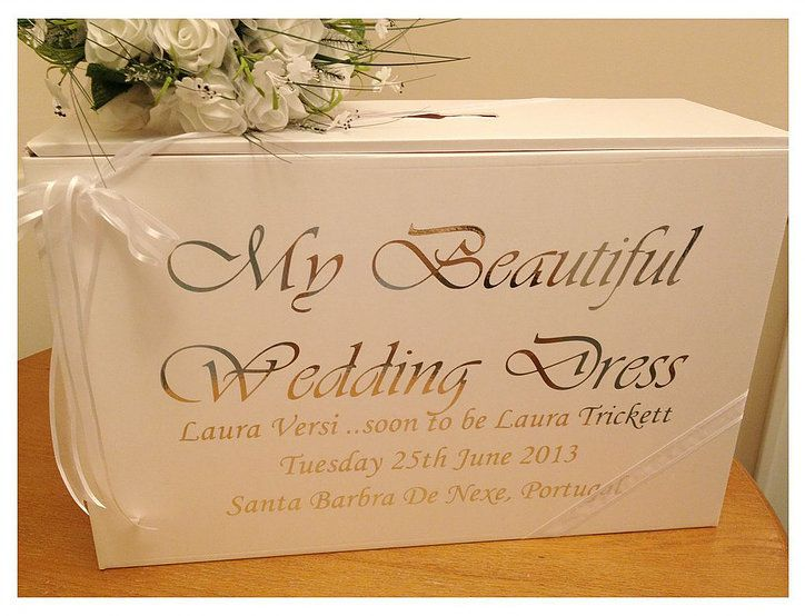 Wedding Dress Travel Boxes For Dresses Honeymoon Personalised