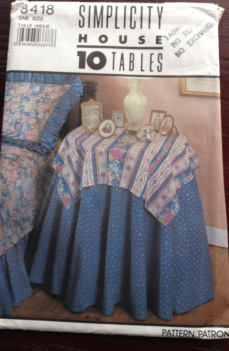10 fabulous table covers Simplicity pattern 10 card set by Followlight on Etsy