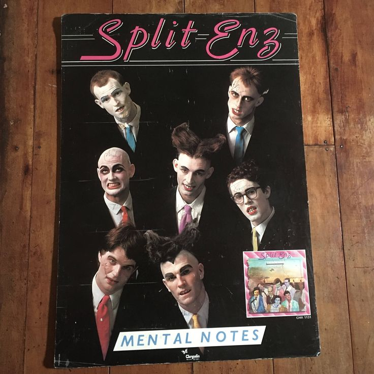 Split Enz Band Signed( all 7!)  1975  Chrysalis Records Original Very Rare Music Poster by RockPostersTreasures on Etsy