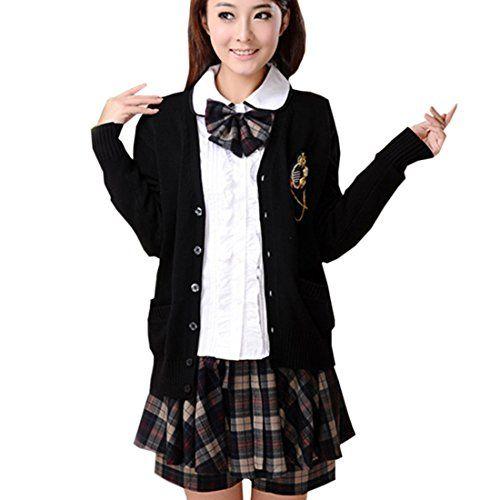 Partiss Japan Schuluniform Maedchen Kostuem Cosplay Lolita gotische Langarm Anzug Mantel Bluse mit Faltenrock fuer Party(Tag L/EU S,#3) Partiss http://www.amazon.de/dp/B01CJG2RGW/ref=cm_sw_r_pi_dp_c6p6wb0W843PR