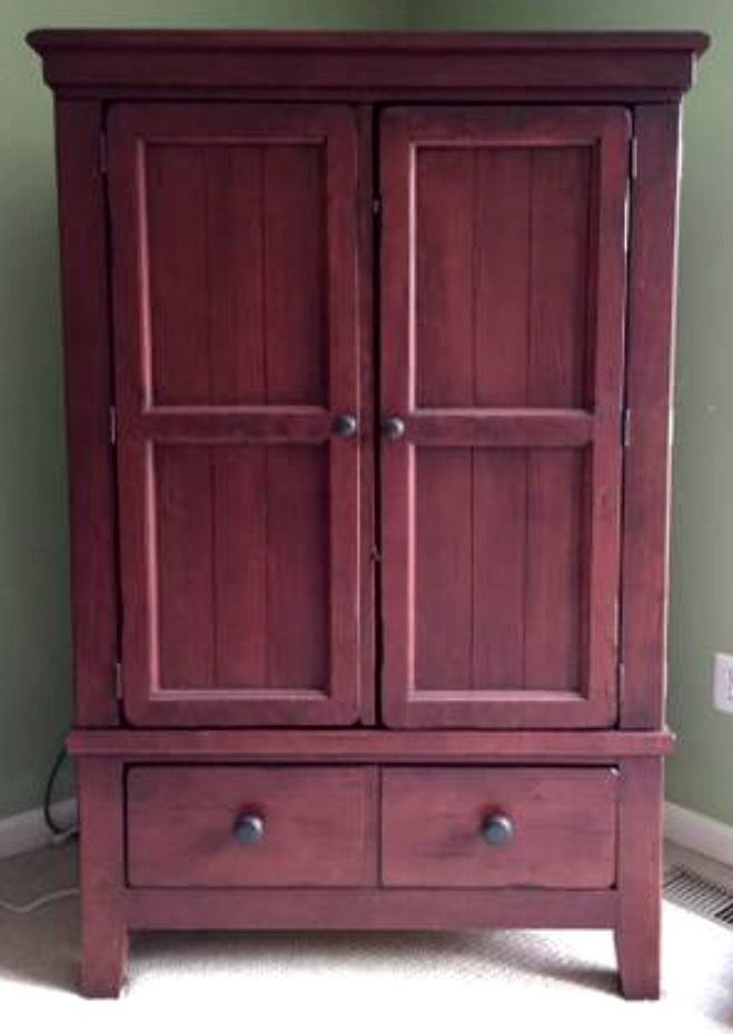 Broyhill Attic Heirlooms TV Armoire in Red Stain ️ | Tv ...