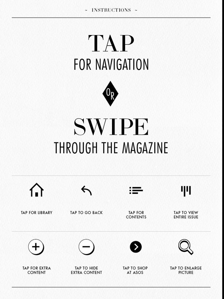 asos magazine instructions - iPad