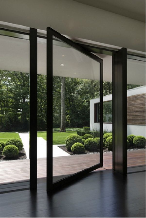 Cool pivot door for entrance and possibly on back of the house facing pool.
