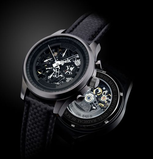 New OVEL watch limited edition a hundred pieces with wonderful Swiss skeleton movement  OVEL the Black Radical (PR/Pics http://watchmobile7.com/data/News/2013/03/130309-ovel-black_radical.html) (1/4)