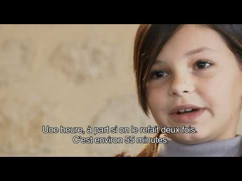 Kids talking about their school in French with French subtitles - great to practice names, ages, etc