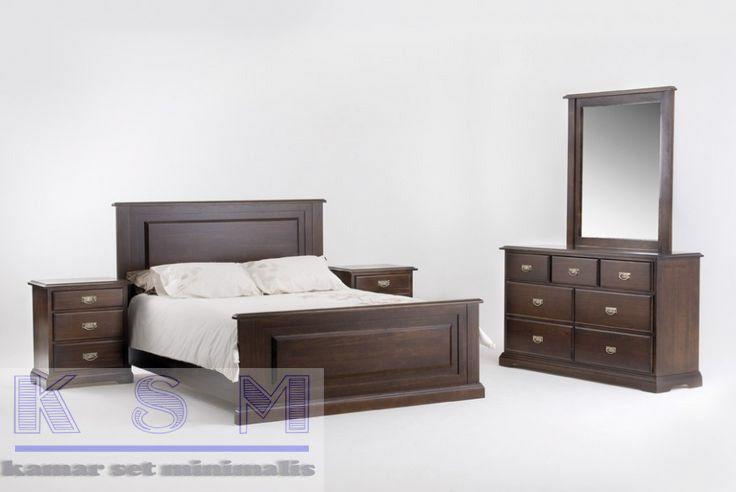 Kamar Set Jati Jepara Desain Minimalis Merupakan produk kami yang terbuat dari bahan baku kayu jati serta memakai desain yang minimalis