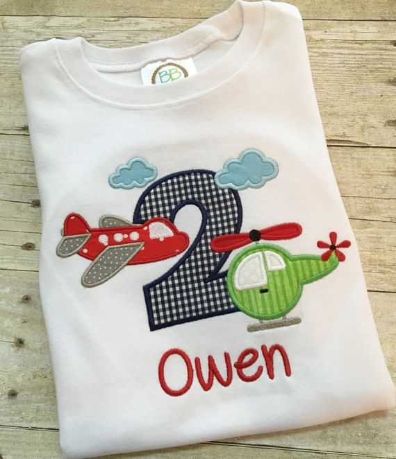 Airplane birthday shirt  Helicopter birthday  by SweetTDesigns1