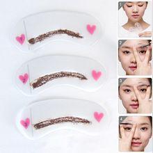 3 styles Sourcils réutilisable pochoir crayon pour sourcils enhancer dessin guide carte front modèle DIY make up outils(China (Mainland))