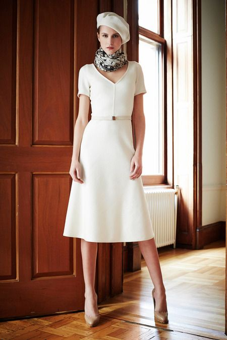 Akris | Pre-Fall 2014 Collection | Style.com - white is lovely!!!!!