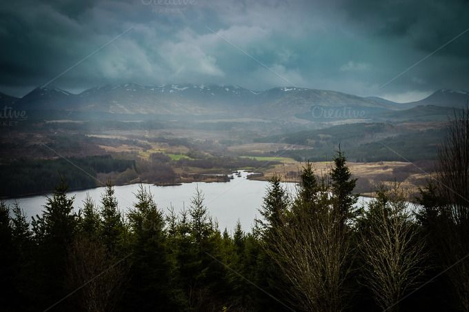 Cloudy day in Scotland by Anovva.Simple photography on @creativemarket