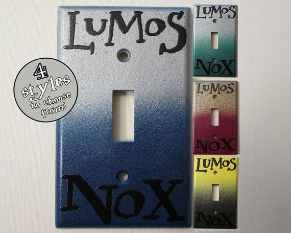 Lumos Nox House Colors Standard Light Switch Plate by DeeplyDapper, $7.00   Fine Geek Gifts and home decor on our shop's Etsy page - www.etsy.com/shop/deeplydapper   Also find us on www.deeplydapper.com and www.etsy.com/shop/dappersoaps