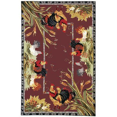 August Grove Isabella Country Novelty Rug Rug Size: 6' x 9'