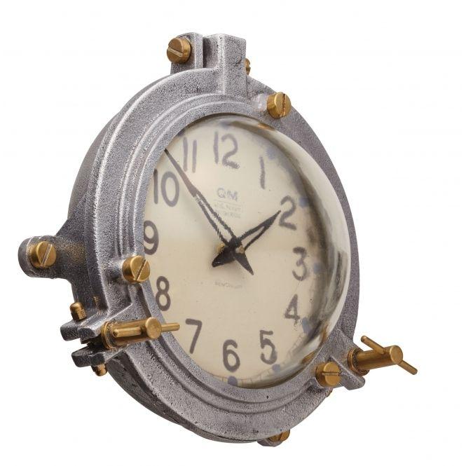 Pendulux Quartermaster Gold And Silver Wall Mounted Clock Aluminium Wall Clock Design Clock Wall Clocks Uk