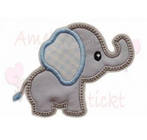 Amelieswelt Elefant Applikation Aufnäher Hellgrau Hellblau In 2