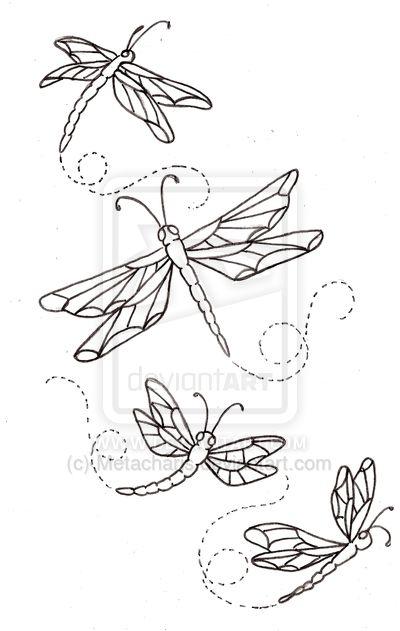 4 Dragonfly Tattoo Designs                                                                                                                                                                                 Más