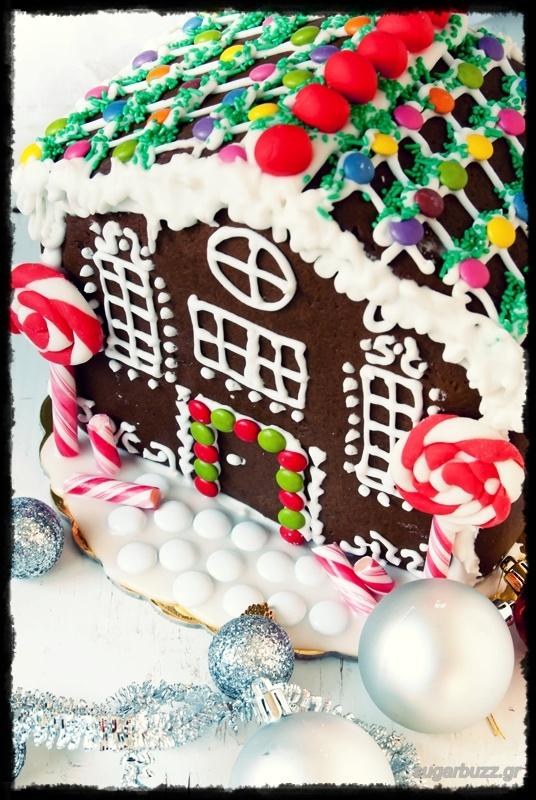Sugar Buzz: Gingerbread house/Μπισκοτόσπιτο(συναρμολόγηση βήμα-βήμα)