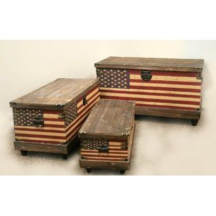 woos american flag decor | Decorative Large Storage Boxes from Sears.com