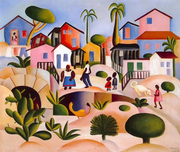Fase Pau Brasil - Morro da Favela, 1924 Tarsila do Amaral