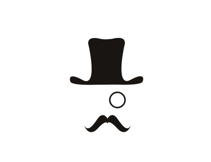 top hat and monocle | Identity | Pinterest | UX/UI ...
