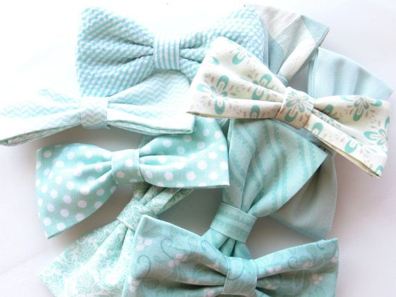 Mint Bow Tie Mix And Match Coordinating by TangledTiesBowTies