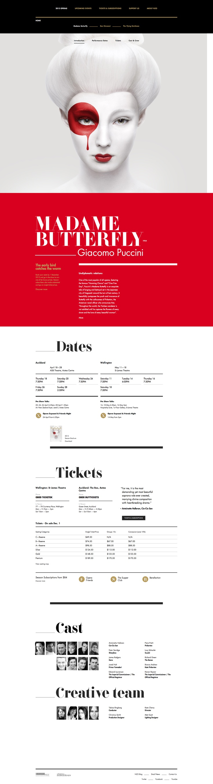 Madame Butterfly | NBR New Zealand Opera – Not a fan of the top half, but the type on the lower section is interesting