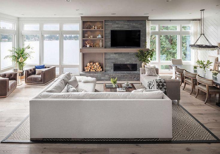 Stunning Large Modern Farmhouse Style Living Room Decor With White Float Farmhouse Style Living Room Farmhouse Style Living Room Decor Living Room Decor Rustic
