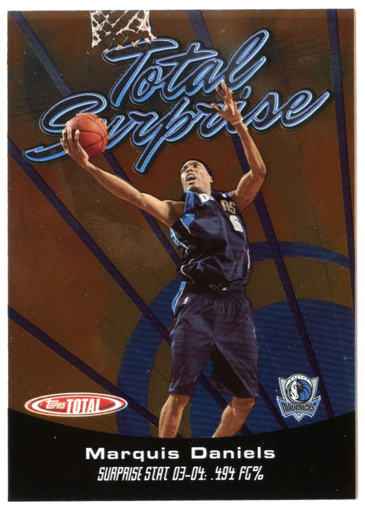Marquis Daniels # TS 4 - 2005-06 Topps Total Basketball - Total Surprise