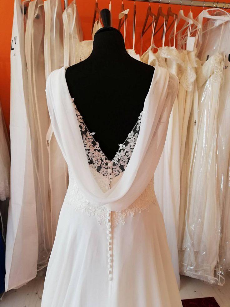 Bohemian chic flowing wedding dress