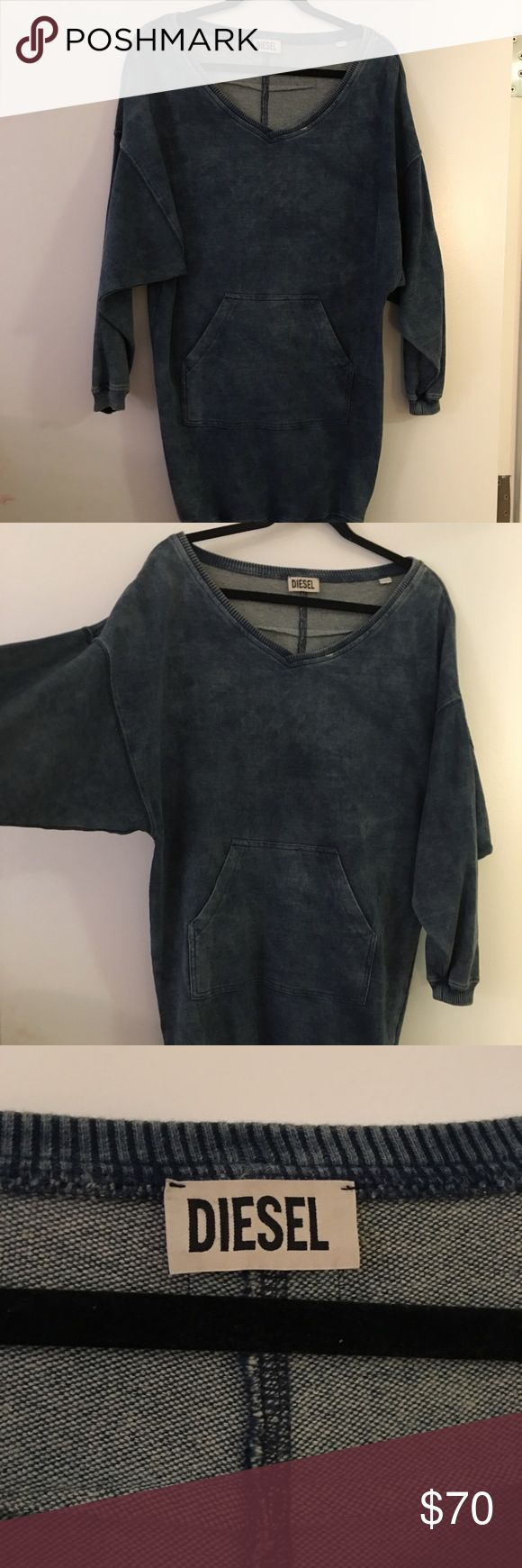 Diesel dress Slouchy and super comfortable, can be worn off the shoulder. Worn once. Fits a size Small or medium Diesel Dresses