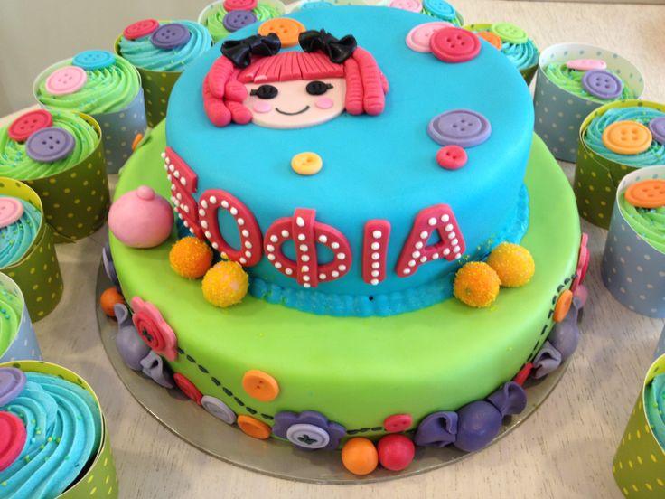 Τούρτες Γενεθλίων - Lalaloopsy με cupcakes! #sugarela #TourtesGenethlion #Lalaloopsy #BirthdayCakes