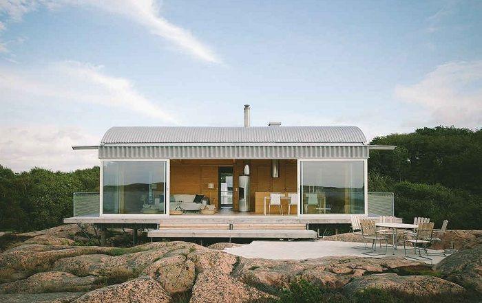Летний домик в Швеции площадью 90 кв. метров.