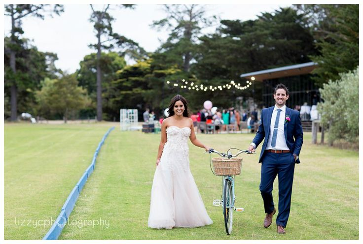 Werribee Mansion Wedding at the Pavilion   #bicycle #wedding #fun #photography  #werribee #melbourne #vintage Photographer: Lizzy C Photography