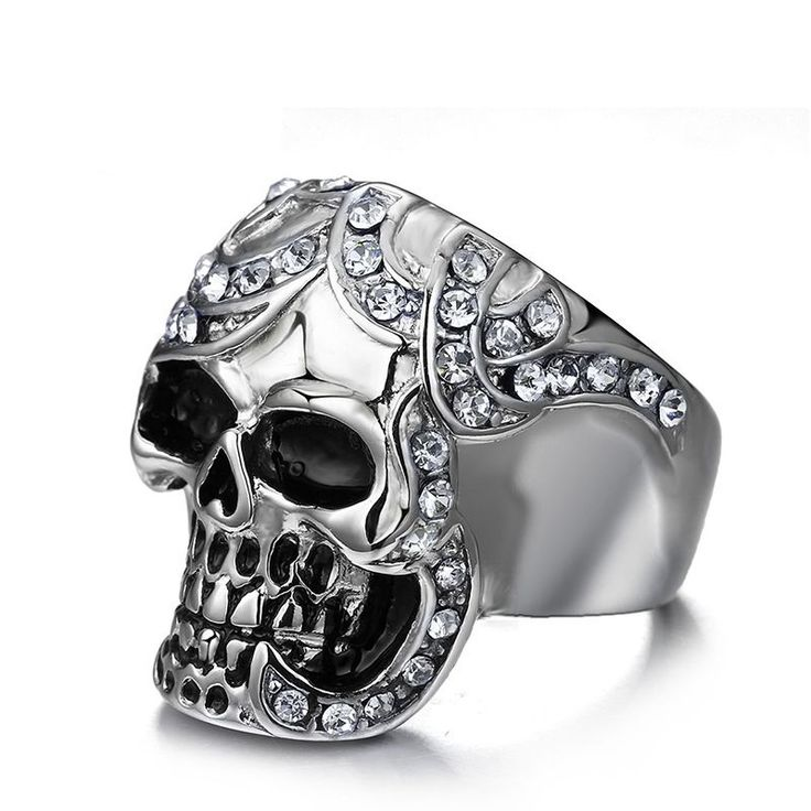 Women's Silver Stainless Steel Skull Ring //Price: $14.69 & FREE Shipping //     #skull #skullinspiration #skullobsession #skulls