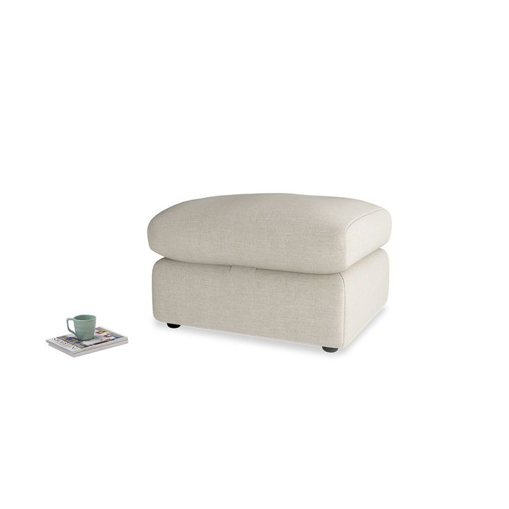 Chatnap Storage Footstool in Thatch House Fabric